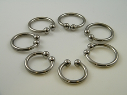 Glans Ring with 2 balls, open model