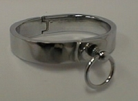 Bracelet of polished stainless steel, 16mm wide