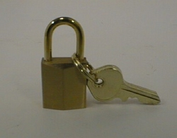 Padlock 15mm brass