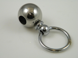Extra closure, stainless steel ballclosure with ring