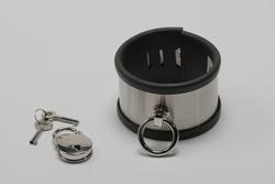 Armband/ -boei of Enkelband/  van rvs met rubber