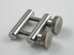 Nippleclamps, stainless steel, with clamping screw, each