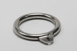 Fixed 8 mm cockring for chastity belts type