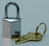 Padlock, heavy chrome plated 15 mm +2 keys