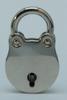 Padlock 20 mm heart shaped, shiny nickelplated +2 keys