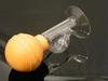 Tepelpompje, Rubber bal met glazen stolp per 2 stuks,