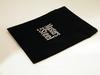 Fluelen geschenk zakje, zwart met klittenband, ca 16 x 20cm