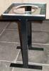 Hocker in H-Form (schwarz) mit Sitz aus Plexiglas